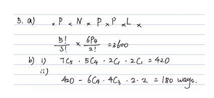 帮你解决Alevel数学考试排列组合题型!