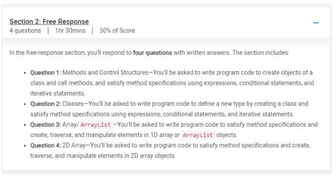 2021年AP计算机科学A考试题型解析