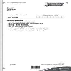 IB化学HL真题及答案和讲解-试卷Paper 3