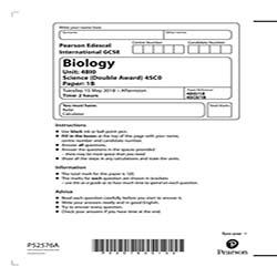 GCSE生物真题及答案和讲解-试卷Paper 1