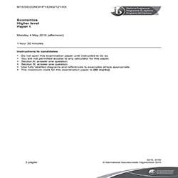 IB经济学HL真题及答案和讲解-试卷Paper 1