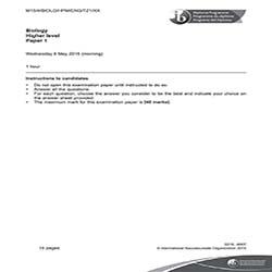 IB生物HL真题及答案和讲解-试卷Paper 1