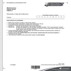 IB数学HL真题及答案和讲解-试卷Paper 2