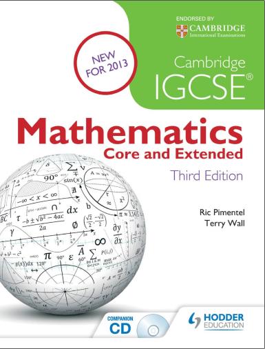 IGCSE数学教材电子版及内容和目录大纲