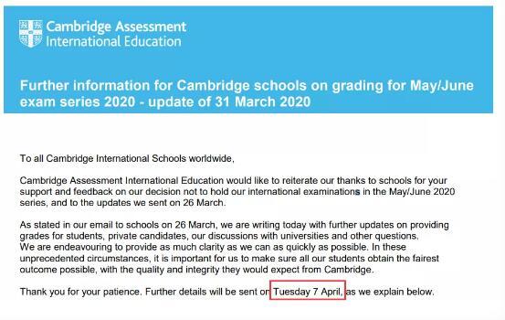 A-level考试取消自己的成绩该如何评定?CAIE最新评分细则来了