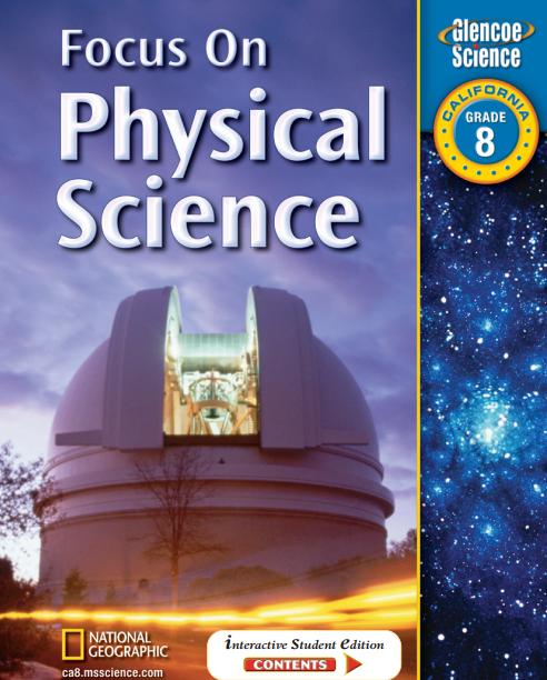 美国初中物理教材电子版内容及目录大纲