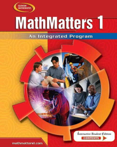 美国初中数学1教材电子版内容及目录大纲