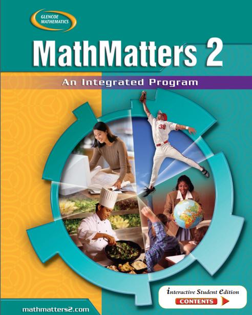 美国初中数学2教材电子版内容及目录大纲