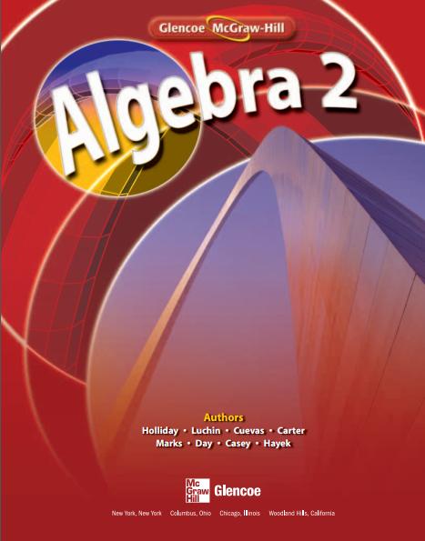 美国高中代数2教材电子版内容及目录大纲