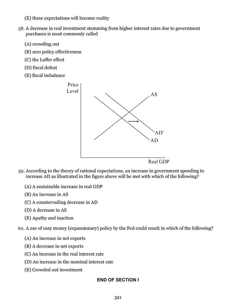 AP宏观经济学真题及答案和讲解-试卷Paper 1