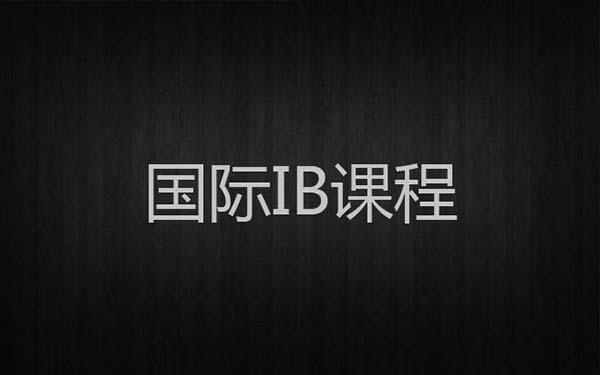 ib课程怎么选课