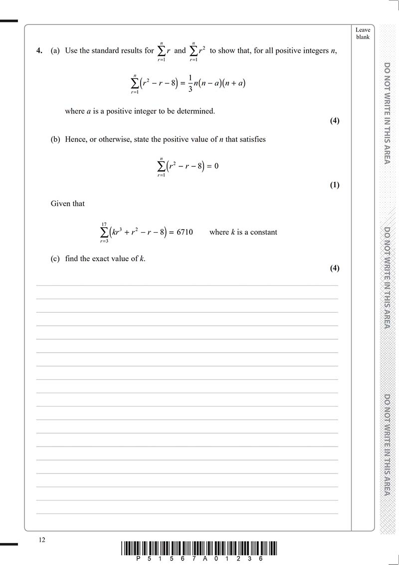 ALEVEL进阶数学真题及答案和讲解-试卷Paper 1